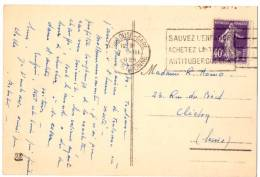 Semeuse N°236-Flamme Toulouse Gare_Antituberculeux (07.03.1929) - 1921-1960: Période Moderne