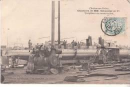 71-le Creusot-chantier De MM Schneider-torpilleur En Construction,ouviers-top Rare - Chalon Sur Saone