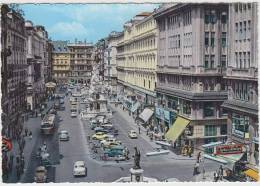 Wien - Graben: MORRIS MINOR TRAVELLER, PORSCHE 356, OPEL KAPITÄN & REKORD P1, VW KÄFER/COX,AUTOBUS,SCOOTER ,FIAT 500/110 - Turismo