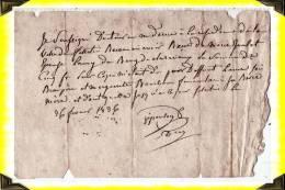 1836  -  Reçu  -  23 Creuse - Manuscrits