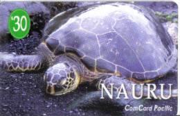 Nauru-turtle Number-()-$30-(cp004)-used Card=2 Card Prepiad Free - Nauru