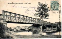78 BONNIERES SUR SEINE -  Le Pont  - Cpa Précurseur 1904 - Bonnieres Sur Seine