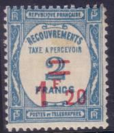 *PROMO* 1f20 Recouvrement Surchargé Neuf ** Sans Charnière TB (Y&T N° 64, Cote: 130€) - Taxes