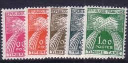 0.05Fr Au 1.00Fr Timbre-Taxe Neufs * TB (Y&T N° 90 à 94, Cote **: 90€) - 1960-.... Postfris