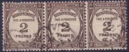*PROMO* 2Fr Recouvrement En Bande De  3 (Y&T N° 62 , Cote +90€) - 1859-1955 Oblitérés
