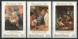 1980 St.Lucia Natale Christmas Noel Set MNH** Nat30 - St.Lucia (1979-...)
