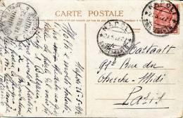 """Regno D´Italia 1912 Cartolina Turca Da Napoli Per Parigi Con Bollo """"Posta Militare 18 Maggio 1912"""" Usata Da Un Civile - Militaria"""