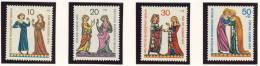 1970 Germany Berlin Complete MNH Minne Singers Set Of 4 Stamps Michel  # 354-357 - [5] Berlin