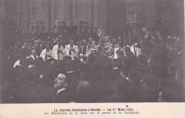 20913 La Journée Diocésaine Nantes (france 44) 1.03.1925 -Bénédiction Foule Parvis Cathedrale -Nozais