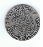 België Gemeentepenningen 1982 Mechelen 50 Mechelaar Romboutstoren - Gemeentepenningen