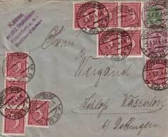 DR Brief Mif Minr.146II,150,10x 158 Frankfurt 1.3.22 - Allemagne