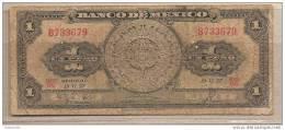 Messico - Banconota Circolata Da 1 Peso - 1957 - Mexique