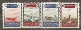 MA369-L4144TTSC.Maroc.Mar Occo.Paisajes Y Avion..MARRUECOS  ESPAÑOL.1953. (Ed 369/2**) Sin Charnela.MUY BONITO - Transporte