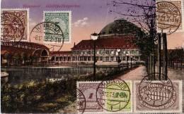 DR AK Hannover Stadthallengarten Mif Minr.208,254,323A,325A,32 8,339 Hannover 8.12.23 - Briefe U. Dokumente
