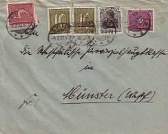 DR Brief Mif Minr.104,158,2x 159,171 Brilon 9.3.22 - Allemagne