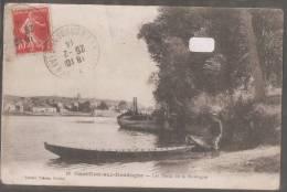 33----CASTILLON SUR DORDOGNE---Les Bords De La Dordogne---barque---animé - Other Municipalities