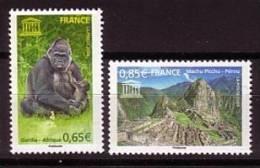2008-UNESCO N°140/141** GORILLE & PEROU - Officials