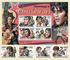 BURUNDI 2011 - Elvis Presley 4v + S/S. Official Issue - Burundi