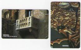 VERONAFIL - 2 Schede Telefoniche San Marino Nn. 45/46 - 1999 - Tiratura 15.000 - San Marino