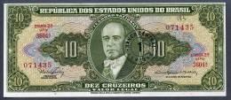 Brésil P 183b  1 Centavo/10 Cruzeiros 1967 UNC Série 3604 N° 071435 - Brasilien