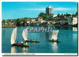 CPM Fishing Boats On The Mesurado River Monrovia Liberia - Liberia