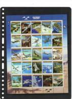 MARSHALL ISLANDS,1999,PLANES,LEGENDARY AIRCRAFT I , SHEETLET OF 25v,  MNH - Vliegtuigen