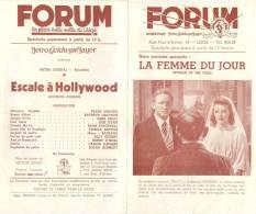 Programme Du Forum, La Plus Belle Salle De Liège (Belgique) - ESCALES A HOLLYWOOD (Frank Sinatra) - Années 1947-48 - Programs