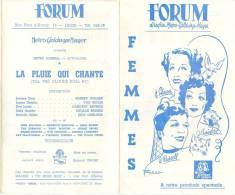Programme Du Forum, La Plus Belle Salle De Liège (Belgique) - LA PLUIE QUI CHANTE (Robert Walker) - Années 1947-48 - Programs