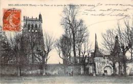 27 - Bec-Hellouin - La Tour Et La Porte De L'Abbatiale, XVe Siècle - France
