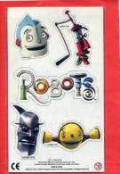 PLAQUETTE DE 5 MAGNETS 2005 PERSONNAGES DU DESSIN ANIME ROBOTS - Personnages