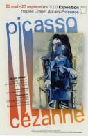 CP Publicitaire - Picasso Cézanne - Peintures & Tableaux