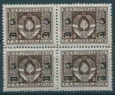 Yugoslavia Republic, 1949 Mi#581, Block Of Four, Mint Never Hinged - 1945-1992 Socialistische Federale Republiek Joegoslavië
