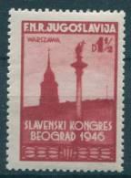 Yugoslavia Republic, Pan-Sloven Congress 1946 Mi#509, Mint Never Hinged - 1945-1992 Socialistische Federale Republiek Joegoslavië