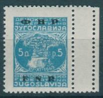 Yugoslavia Republic, 1950 Mi#604, Perforation Error, Mint Never Hinged - 1945-1992 Socialistische Federale Republiek Joegoslavië