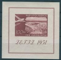 Yugoslavia Republic, ZEFIZ Airmail 1951 Mi#Block 5, Mint Lightly Hinged - 1945-1992 Socialistische Federale Republiek Joegoslavië