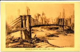 NEW YORK CITY - Brooklyn Bridge And Lower New York - Non Classificati