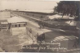 CPA PHOTO 67 STRASBOURG Circuit Courses Automobiles Sport Les Tribunes Près De DUPPIGHEIM Rare - Strasbourg