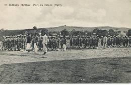 Haiti Port Au Prince Militaires Haitiens No 213 Edit Pharmacie Centrale Etat Luxe - Haïti