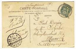 """Facteurs Boitiers 84  -  """" AVANNE  /  DOUBS  /  20 AOUT 05 """"  -  Pothion N° 770 - Storia Postale"""