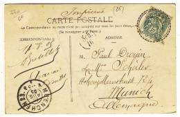 "Facteurs Boitiers 84  -  "" AVANNE  /  DOUBS  /  20 AOUT 05 ""  -  Pothion N° 770 - 1877-1920: Periodo Semi Moderno"