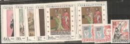 Cecoslovacchia 1967 Nuovo** - Yv.1537x2 +1538 +1601/05x2 - Cecoslovacchia