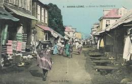 Sierra Leone Freetown No 2 Street Cliché C.F.A.O.Post. Used 1914 Ship Gascogne - Sierra Leone