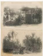 Serie 4 Cp Chemin De Fer Et Port De La CI Lorry Inspection Fev 1904 - Côte-d'Ivoire