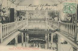 Nouméa No 63 Interieur Du Musée Bibliotheque Voyagé 1908 Vers Luxembourg - Nouvelle-Calédonie
