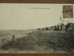 17 - ILE D'OLERON - LA BREE - A Marée Basse (la Plage Et Les Cabines... Animée) - Ile D'Oléron