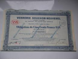 VERRERIE SOUCHON-NEUVESEL 1928 - Unclassified