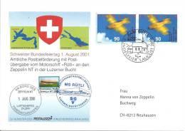 2001 Zeppelin NT Bundesfeier Uns Transportiert Von MS Rütli - Aéreo