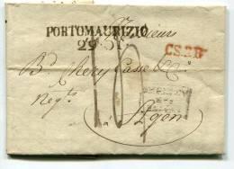 LETTERA PREFILATELIA PORTO MAURIZIO IMPERIA - 1. ...-1850 Prefilatelia