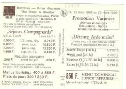 C1937 Hostellerie Aux Armes De Bouillon - Les Relais D'Ardenne / Non Viaggiata - Bouillon