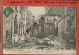 CPA 02, BATAILLE DE SOISSONS, Rue Des Francs Boisiers, Chevaux Morts, Lilitaria , Guerre 1914-16, Nov 2012 GER-0317 - Soissons